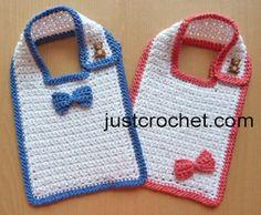 Free baby crochet pattern textured cotton bib usa
