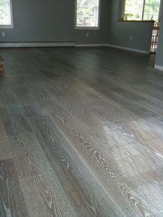 blog post on staining oak grey