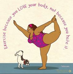 """Happiness is not size specific."" http://greatist.com/live/monday-motivation-body-positive-illustrations"