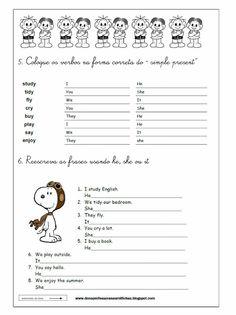 Atividades de Inglês: Simple present - 7º ano