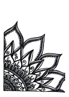 Radiance  Original Ink Drawing  Black and White by SomewhereFound