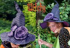 Dead Roses Witch Hat - free pattern and tutorial