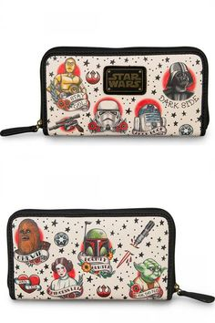Pre Order Loungefly x Star Wars Tattoo Flash Print Faux Leather Wallet