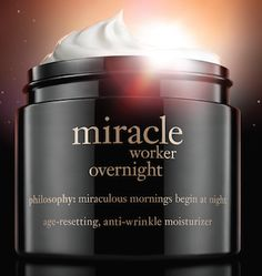 philosophy miracle worker overnight age-resetting, anti-aging moisturizer