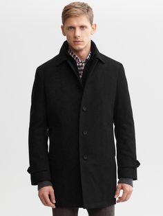 #BRAnnaK #BananaRepublic | Wool-blend coat