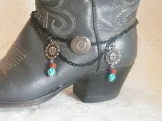 Boot bling www.etsy.com/listing/165202425/cowgirl-horseshoe-concho-boot-bracelet