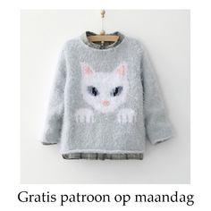 Gratis patroon op maandag - Breipatroon kindertrui. Ontvang ieder maandag het gratis patroon en een leuke aanbieding van het garen.