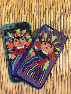 Mexican iPhone 6 case huichol art beads queretana doll rag doll traditional  mexican party gift cases mexican folk beadwork by Miamorcitocorazon on Etsy 765019b108620