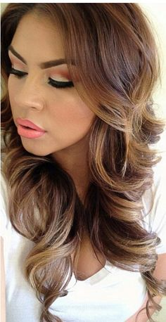 87 unique ombre hair color ideas to rock in 2018 - Hairstyles Trends Brown Hair With Highlights, Brown Hair Colors, Hair Colour, Blonde Highlights, Love Hair, Gorgeous Hair, Beautiful, Amazing Hair, Pretty Hairstyles