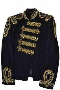Michael Jackson Women Balmain Military Wedding Jacket