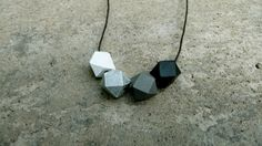 Geometric Wood Necklace  Hedron Necklace  by TheVintageAcorn, $18.00