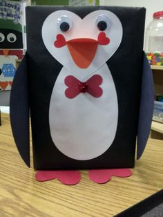 valentine box penguin