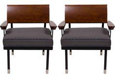 Modernist Chairs, Pair