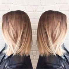 Image in hair 💇💓 collection by 삘라르 ; Short Layered Haircuts, Long Bob Haircuts, Hairstyles Haircuts, Blond Ombre, Blonde Balayage, Mi Long, Hair Dos, Selena Gomez, Kylie Jenner