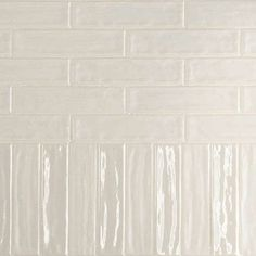 Kitchen Surround   Concerto 2x9 Greige Glossy with Bright White Grout