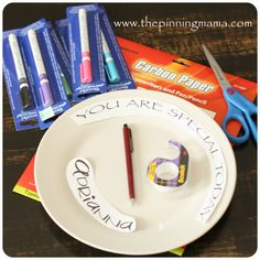 DIY How to Make a Personalized Birthday Plate www.thepinningmama.com | The Pinning Mama