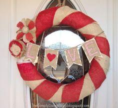 valentine's burlap wreath