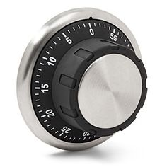 Magnetic Safe Kitchen Timer looks like a combination-style safe lock Dimensions: diameter