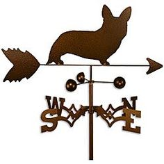 Handmade Welsh Corgi Cardigan Dog Copper Weathervane.. For my Lily Beth.