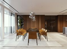 Create a luxury dining room design with the help of these inspirational dining room decor ideas. Find luxury dining furniture and modern dining room lighting. Luxury Dining Room, Dining Room Design, Dining Area, Luxury Rooms, Futuristisches Design, Design Ideas, Room Interior Design, Dining Room Furniture, Dining Rooms