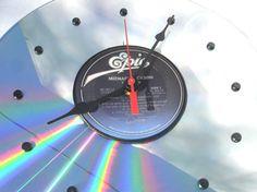 "MICHAEL JACKSON Laserdisc Clock - ""Thriller"" (1982)  Recycled Optical Disc & Record Album"
