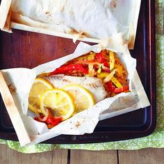 Try baked Ratatouille fish en papillote, a colourful dish with zucchini, peppers, tomatoes and couscous. Find more healthy dinner ideas at Chatelaine.com.