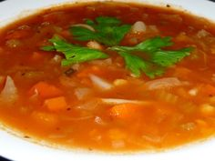 Diabetic Friendly Recipe: Minestrone Soup. The full taste of minestrone soup with the goodness of a whole foods plans based recipe. Click through to get your recipe.