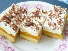 Broskyňové rezy s mascarpone (zdroj: Naničmama. Dessert Recipes, Desserts, Something Sweet, Tiramisu, Cheesecake, Pudding, Ethnic Recipes, Food, Hampers