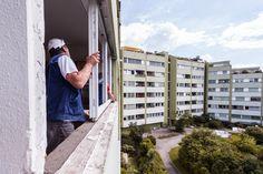Montage eines Teil des #Fensters in Linz!