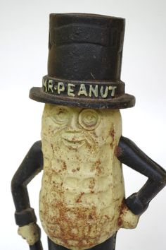 Vintage Cast Iron Mr Peanut Bank Planters by retrowarehouse
