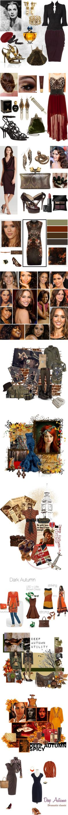 """""""Dark Autumn"""" by authenticbeauty on Polyvore"""