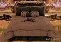 Barrel Racing bedding- idea for tween horse bedroom awesome want want want this!!!!
