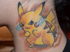 Here´s a better photo made with my new Nikon Camera Have fun and I hope you´ll love it like me Tattoo made by Kay in Berlin, Germany Thanks ma. My Pikachu Tattoo Finger Tattoos, Hand Tattoos, Body Art Tattoos, Tatoos, Color Tattoos, Pikachu Tattoo, Pikachu Pikachu, Go Tattoo, Tattoo Motive