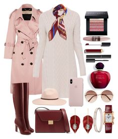 """""""Winter's Almost Here"""" by pulseofthematter ❤ liked on Polyvore featuring Burberry, 'S MaxMara, Victoria Beckham, Bobbi Brown Cosmetics, Maybelline, Chanel, MANGO, Billabong, Cartier and Chloé"""