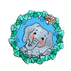 BaZooples Iron-on Embroidered Applique Patches, BaZooples Elsie Elephant