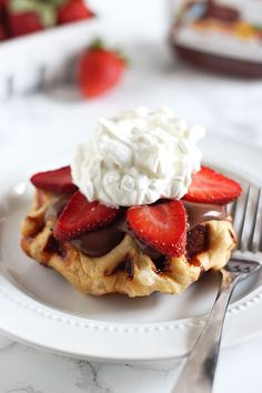 How to Make Belgian Liege Waffles - aka the BEST waffles EVER. Bits of crunchy caramelized sugar in every fluffy bite. I top mine with Nutella, fruit, and whipped cream!