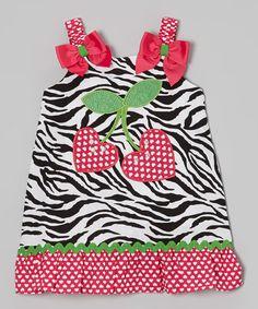 Black & Red Strawberry Swing Dress - Infant, Toddler & Girls by Youngland #zulily #zulilyfinds