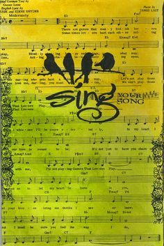 Sing ~ Sing your song