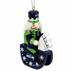 Seattle Seahawks Nutcracker Rocking Horse Ornament $7.60