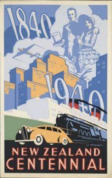 NZ Centennial Poster for Sale - New Zealand Art Prints
