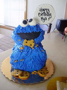 Cookie Monster Cake Ideas