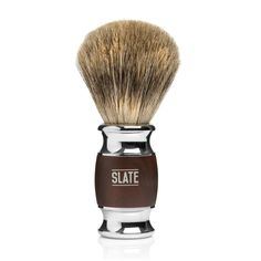 Pure Badger Shaving Brush - 20mm Wide Knot - Faux Rosewood Handle