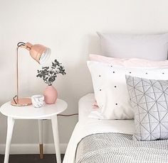 seriously adorable | bedroom, nightstand, night lamp, polkadot pillows, home inspiration, house, living space, room, scandinavian, nordic, inviting, style, comfy, minimalist, minimalism, minimal, simplistic, simple, modern, contemporary, classic, classy, chic, girly, fun, clean aesthetic, bright, white, pursue pretty, style, neutral color palette, inspiration, inspirational, diy ideas, fresh, stylish, 2017,