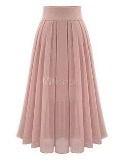 Omela Damen Hohe Taille Chiffonrock Langer Rock a Linien Faltenrock Maxirock Mode Outfits, Skirt Outfits, Dress Skirt, Waist Skirt, Flowy Skirt, Sexy Skirt, Blouse Dress, Midi Skirt, Modest Fashion