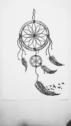 Dream Catcher Outline Simple Dreamcatcher Outline Dreamcatcher  Tattoos  Pinterest