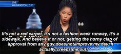 Actress Jessica Williams delivers a flawless response to street harassment