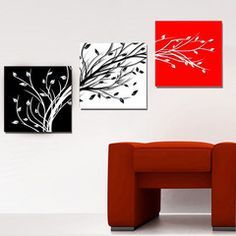 abstract flower decorative painting set