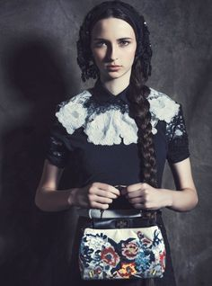 """Devota da Moda"" Waleska Gorczevski for Vogue Brazil July 2014 by Jacques Dequeker"
