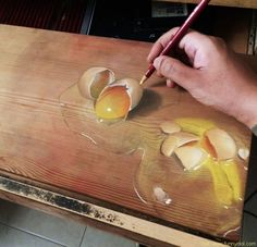 """Singapore-based artist Ivan Hoo draws these stunning photo-realistic drawings on wooden boards using pencils and pastels. He uses """"wooden boards"""" as medium to Realistic Paintings, Realistic Drawings, 3d Drawings, Colorful Drawings, Hyperrealistic Drawing, Pastel Drawing, Love Painting, Drawing Techniques, Famous Artists"""