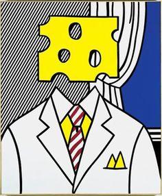 """Roy Lichtenstein Poster /"""" Interior with Skyline /"""" Pop Art Poster in Mint"""